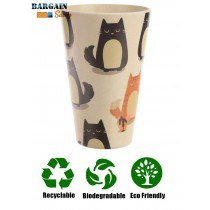 Biodegradable Bamboo Cat Cup Recyclable Sustainable Dishwasher Safe