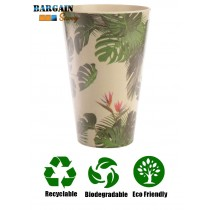 Biodegradable Bamboo Cup Cheese Plant Bird of Paradise Recyclable Sustainable Dishwasher Safe