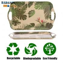 Eco Friendly Biodegradable Bamboo Tray Cheese Plant Bird of Paradise Dishwasher Safe