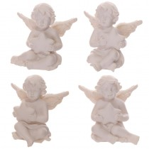 4 Different Angels/Cherubs Figurines Holding a Star Collectable Gift