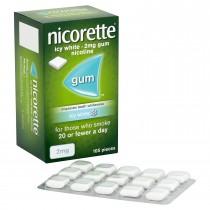 Nicorette Icy White 2mg Gum 105 Pieces Help Keep Teeth White