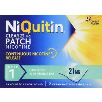 NiQuitin Clear 24 Hour 7 Patches Step  1- 21mg - 1 Week Kit