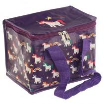 "Rainbow Unicorn Cool Bag ""Feed Me Meow"" - `Kids Small Food & Drink Cooler"